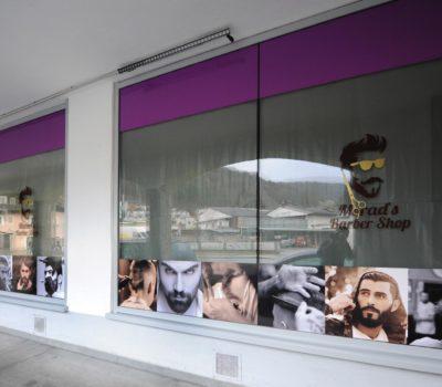 Schaufesnstergestaltung Barber Shop