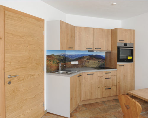 Gestaltung von Küchenrückwand Hotel Eggerhof