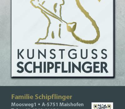 Aufkleber Kunstguss Schipflinger