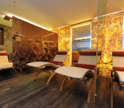 Gestaltung Wellnessraum Hotel Unterellmau