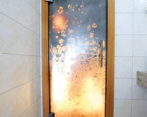 Folierung Glastüre Hotel Unterellmau