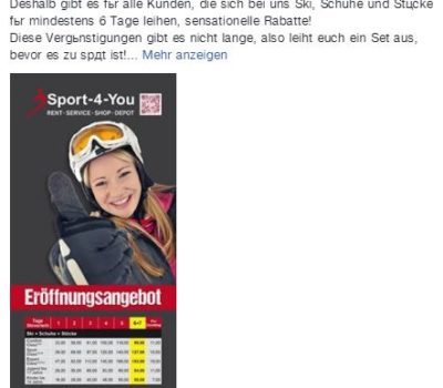 Eröffnungsangebote Beitrag Sport-4-You