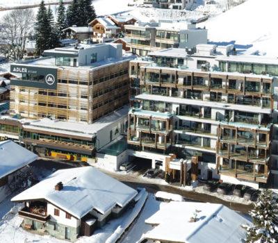 Winteraufnahme Hotel Adler