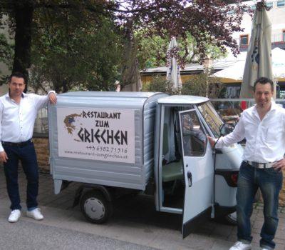 Autobeschriftung Restaurant zum Griechen