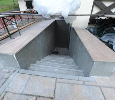 Gestaltung Stiegenaufgang Unterellmau