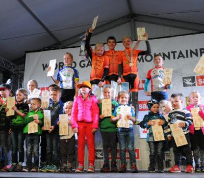 World Games of Mountainbiking Siegerehrung Fotografie