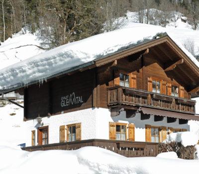 Winteraufnahme Chalet Glemtal