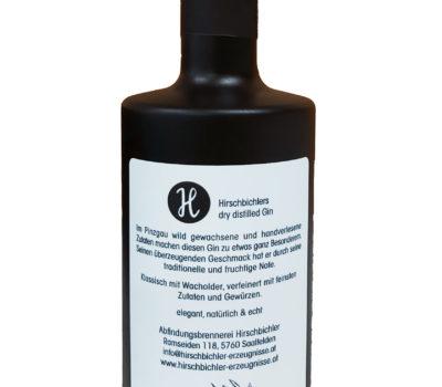 Etikett Dry Ginfalsche Hirschbichler