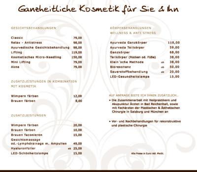 Folder Bioresonanz & Kosmetik Angela Schratl