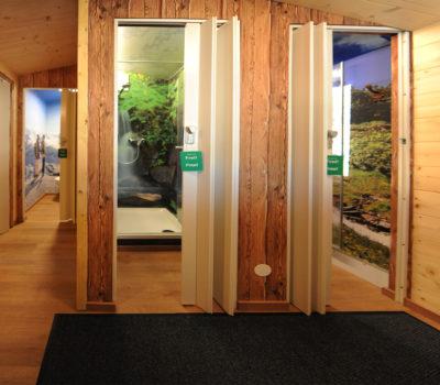 Gestaltung Sanitärraum Campingstellplatz Hollin