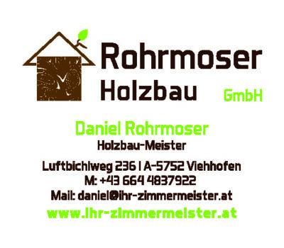Visitenkarte Holzbau Rohrmoser