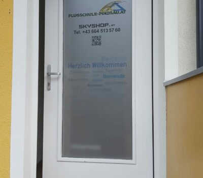 Aussengestaltung Flugschule Pinzgau